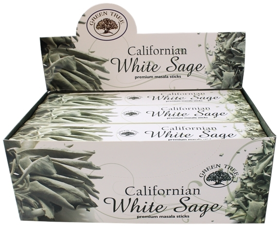 ENCENS GREEN TREE WHITE SAGE 15 GR - LOT DE 12 BOITES