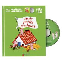 ALBUM ET CD - 3 PETITS COCHONS