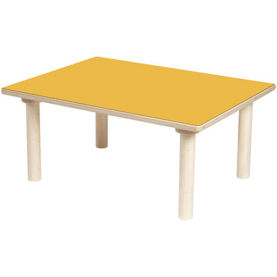 TABLE RECTANGLE ORANGE
