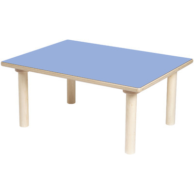 TABLE RECTANGLE BLEUE