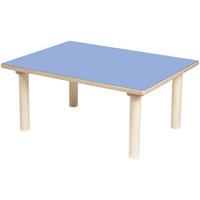 TABLE RECTANGLE BLEUE
