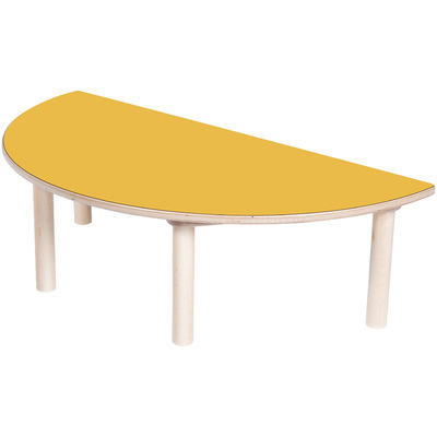 TABLE DEMI-CERCLE ORANGE