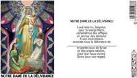 NEUVAINE VITRAIL : NOTRE DAME DE LOURDE REF 36L5021