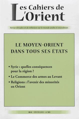 CAHIERS DE L ORIENT N113