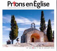 PRIONS POCHE EN EGLISE N343 JUILLET 2015