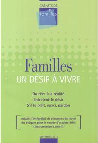 CARNETS DE FAMILLES - UN DESIR A VIVRE