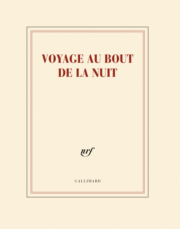 CAHIER VOYAGE AU BOUT DE LA NUIT 18X23,5CM 56 P BLANCHES