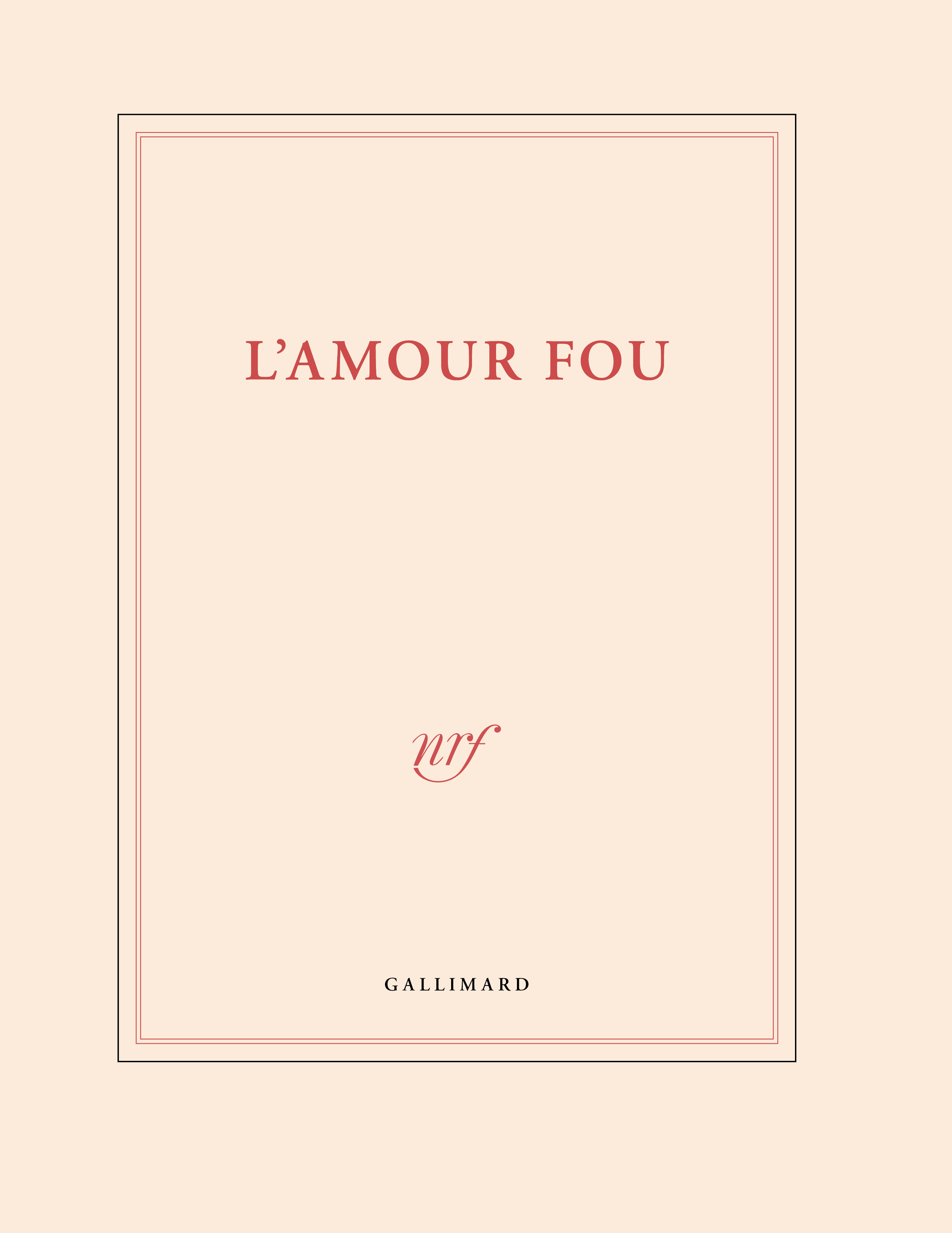 GD CAHIER BLANC L'AMOUR FOU 25X32,5CM 144 P BLANCHES