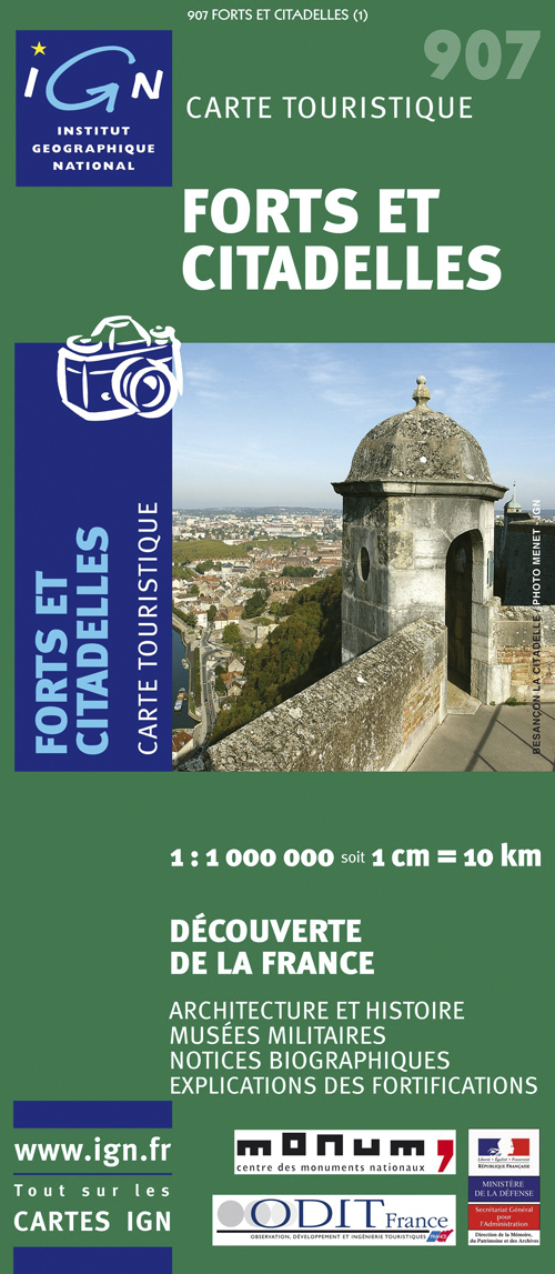AED 1M907 FRANCE-FORTS & CITADELLES  1/1M
