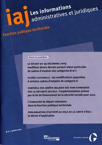 LE DECRET DU 29 DECEMBRE 2009 (IAJ N 1 - JANVIER 2010) + INDEX THEMATIQUE 2010 +