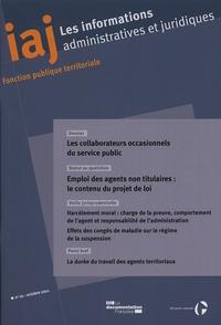 LES COLLABORATEURS OCCASIONNELS DU SERVICE PUBLIC N 10 OCTOBRE 2011
