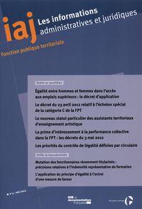 EGALITE ENTRE HOMMES ET FEMMES DANS L'ACCES AUX EMPLOIS SUPERIEURS N 5 MAI 2012