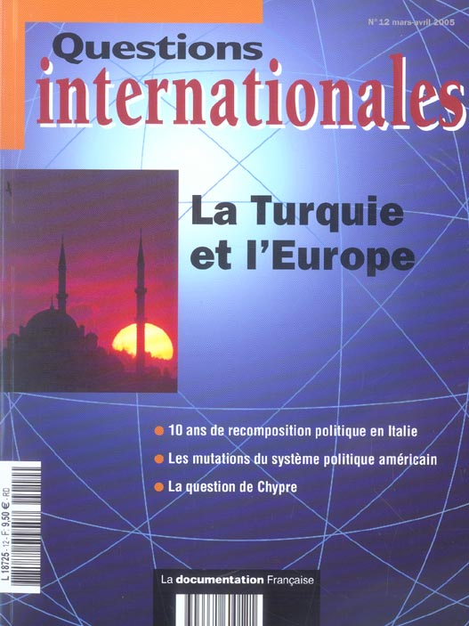 LA TURQUIE ET L'EUROPE N 12 MARS-AVRIL 2005