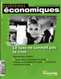 LE LUXE NE CONNAIT PAS LA CRISE (N 3008)