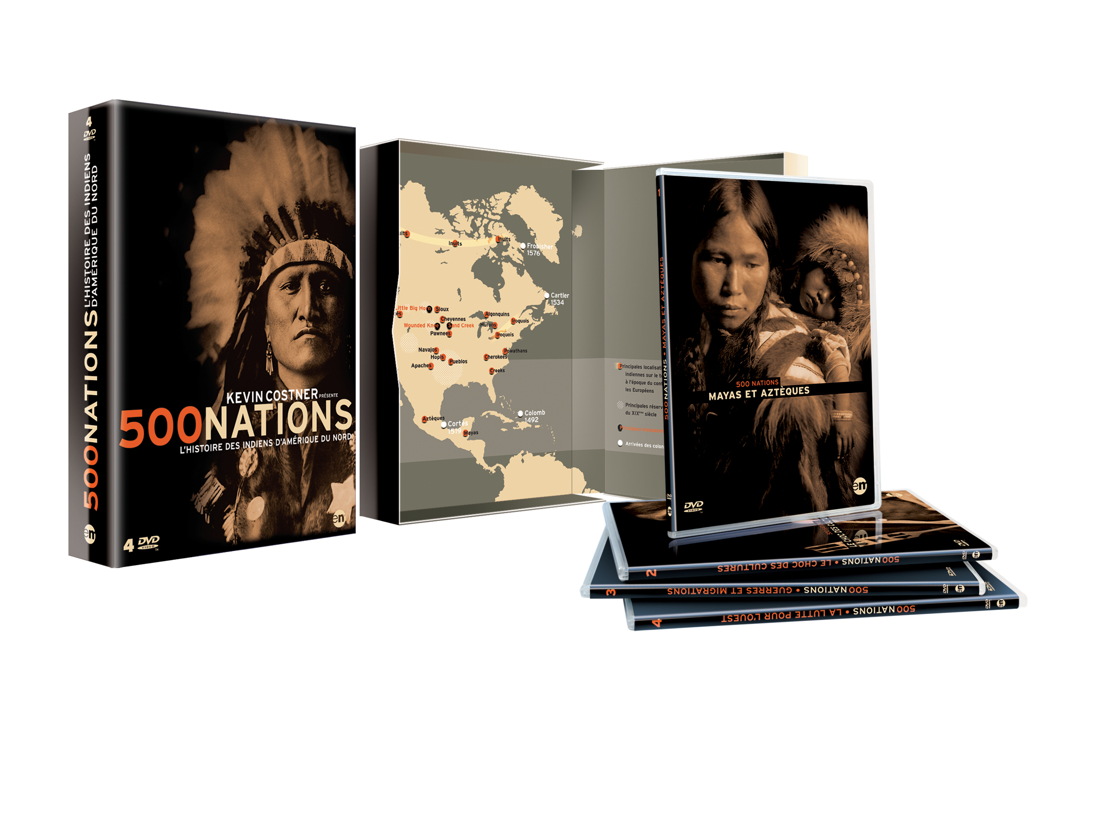 500 NATIONS - COFFRET 4 DVD