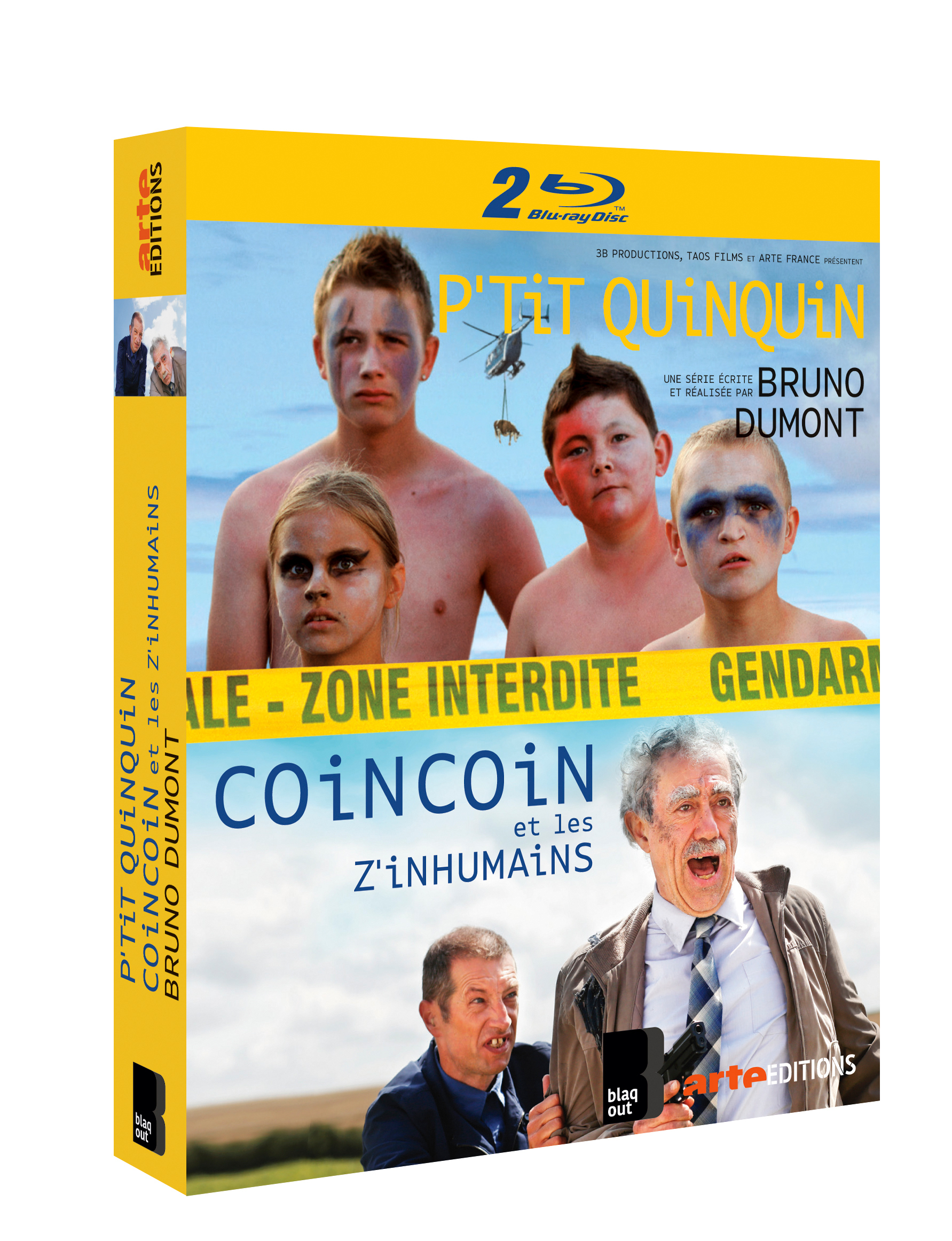 P'TIT QUINQUIN + COIN COIN ET LES Z'INHUMAINS - 4 BLU-RAY