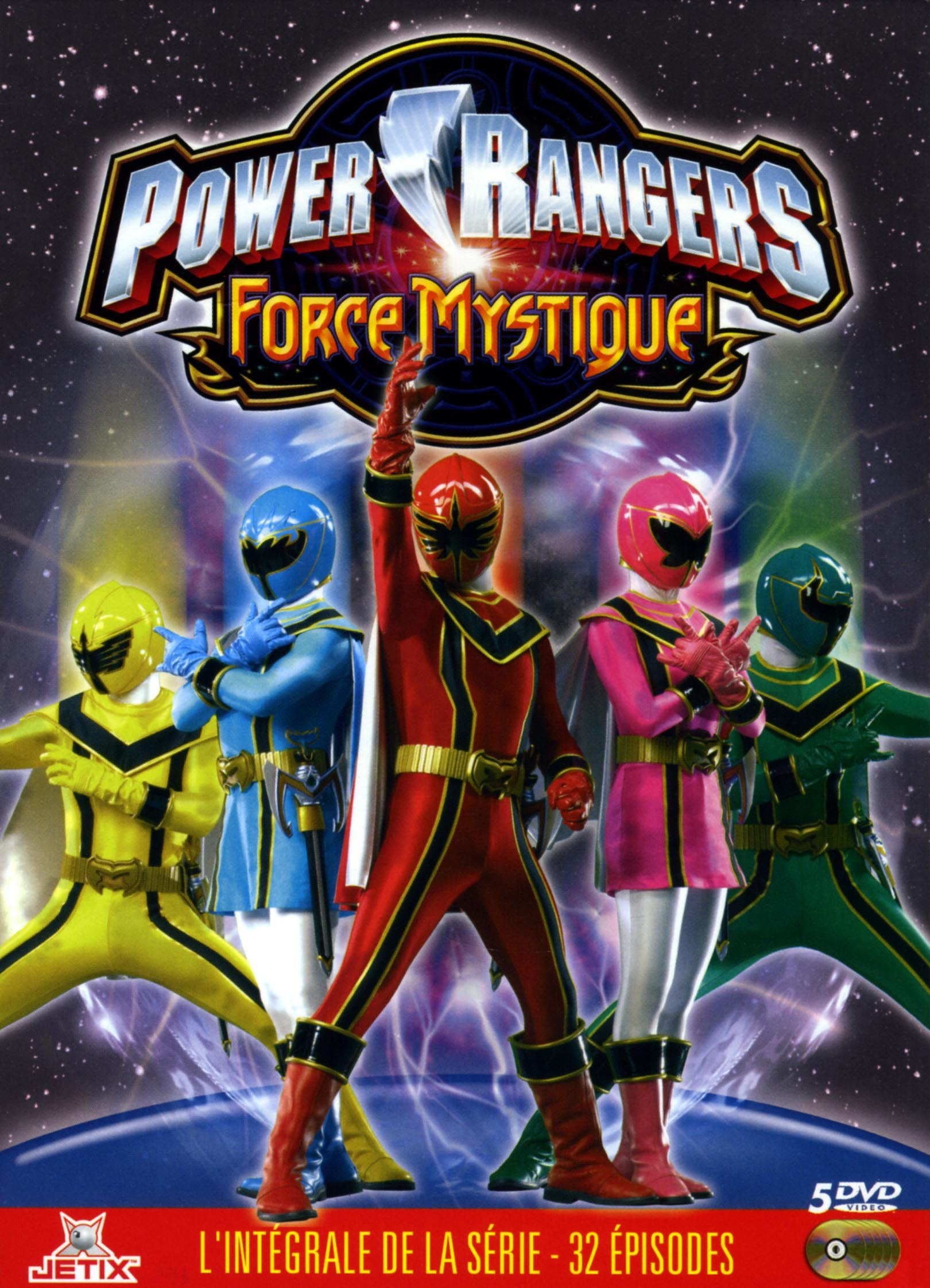 POWER RANGERS FORCE... - 5 DVD...MYSTIQUE