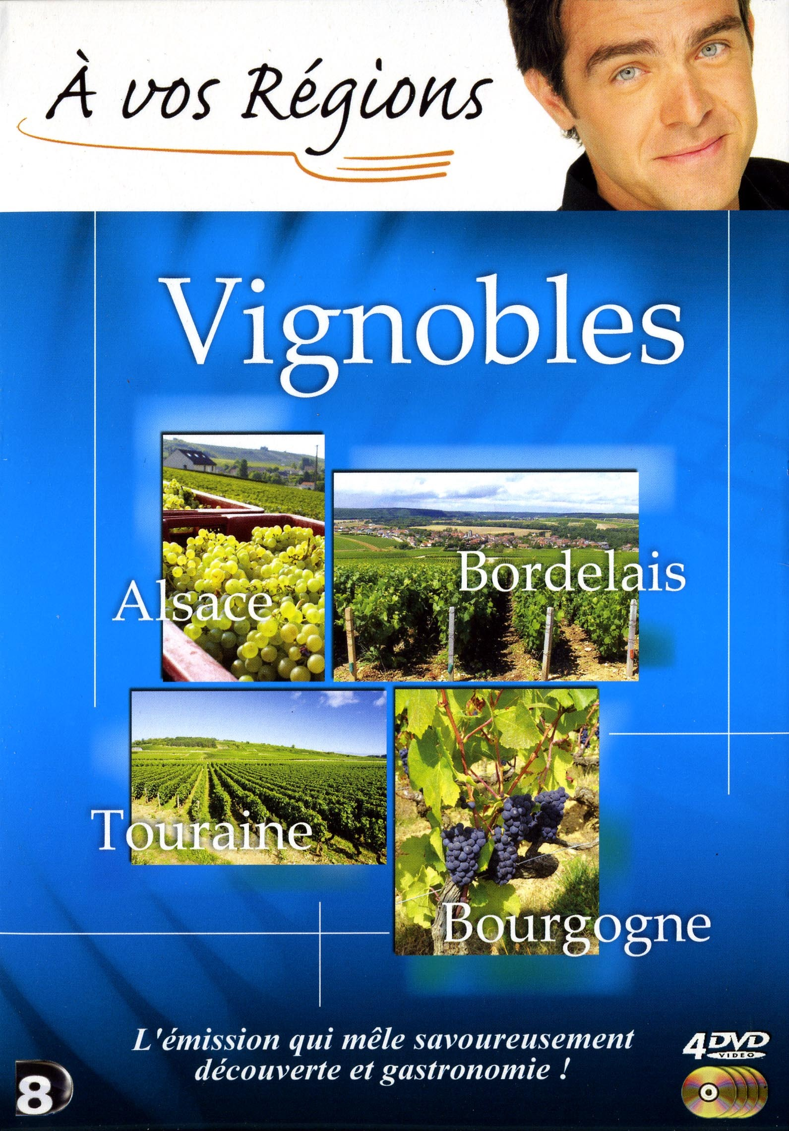 A VOS REGIONS VIGNOBLES - 4 DVD