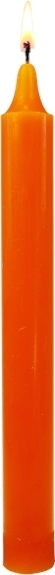 BOUGIE TEINTEE MASSE - COLORIS ORANGE - PACK DE 12