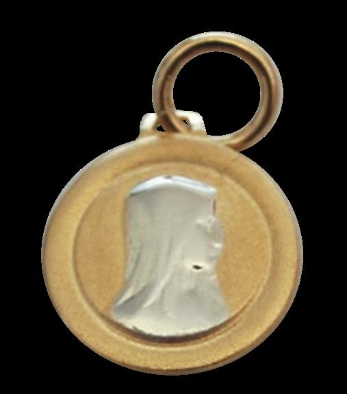 MEDAILLE OR MAT - VIERGE ARGENT