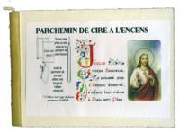 PARCHEMIN DE CIRE A L'ENCENS - JESUS