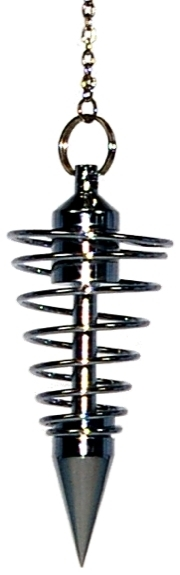 PENDULE SPIRALE CHROME GRAND MODELE