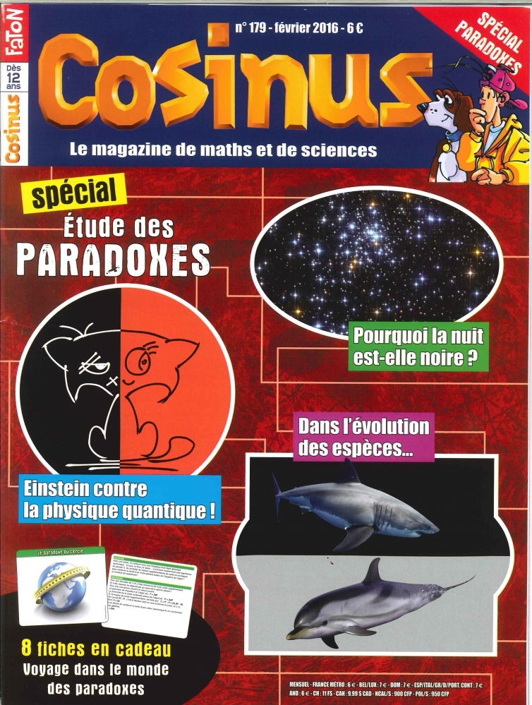 COSINUS N 179 SPECIAL PARADOXES FEVRIER 2016