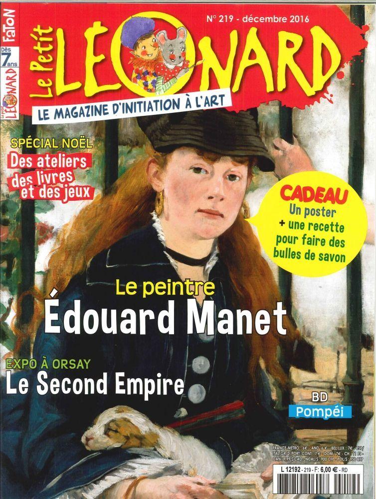 LE PETIT LEONARD N 219 EDOUARD MANET DECEMBRE 2016