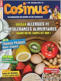COSINUS N 188 ALLERGIES ET INTOLERANCES ALIMENTAIRES DECEMBRE 2016