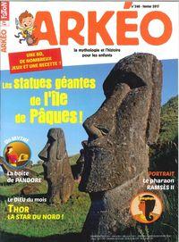 ARKEO JUNIOR N 248 LES STATUES GEANTES DE L'ILE DE PAQUES FEVRIER 2017