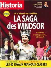 HISTORIA MENSUEL N 859/860 LA SAGA DES WINDSOR  - JUILLET/AOUT 2018