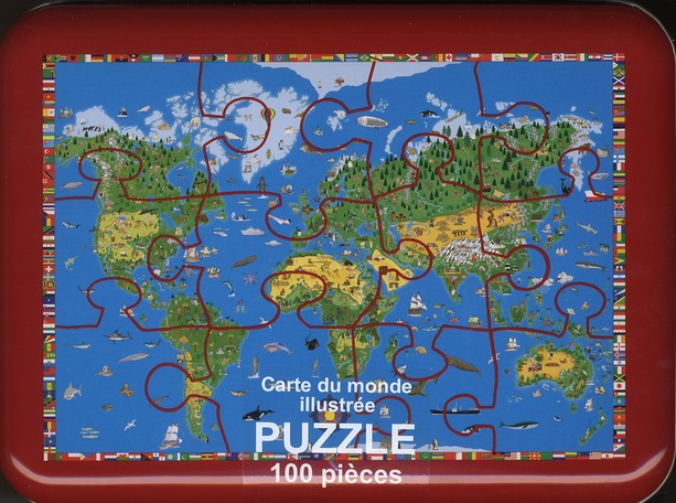 **PUZZLE MONDE ILLUSTRE ENFANTS PUZZLE 100 PIECES