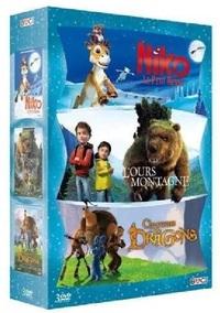 COFFRET AVENTURE 3 DVD : CHASSEURS DE DRAGONS + L'OURS MONTAGNE + NIKO, LE PETIT RENNE
