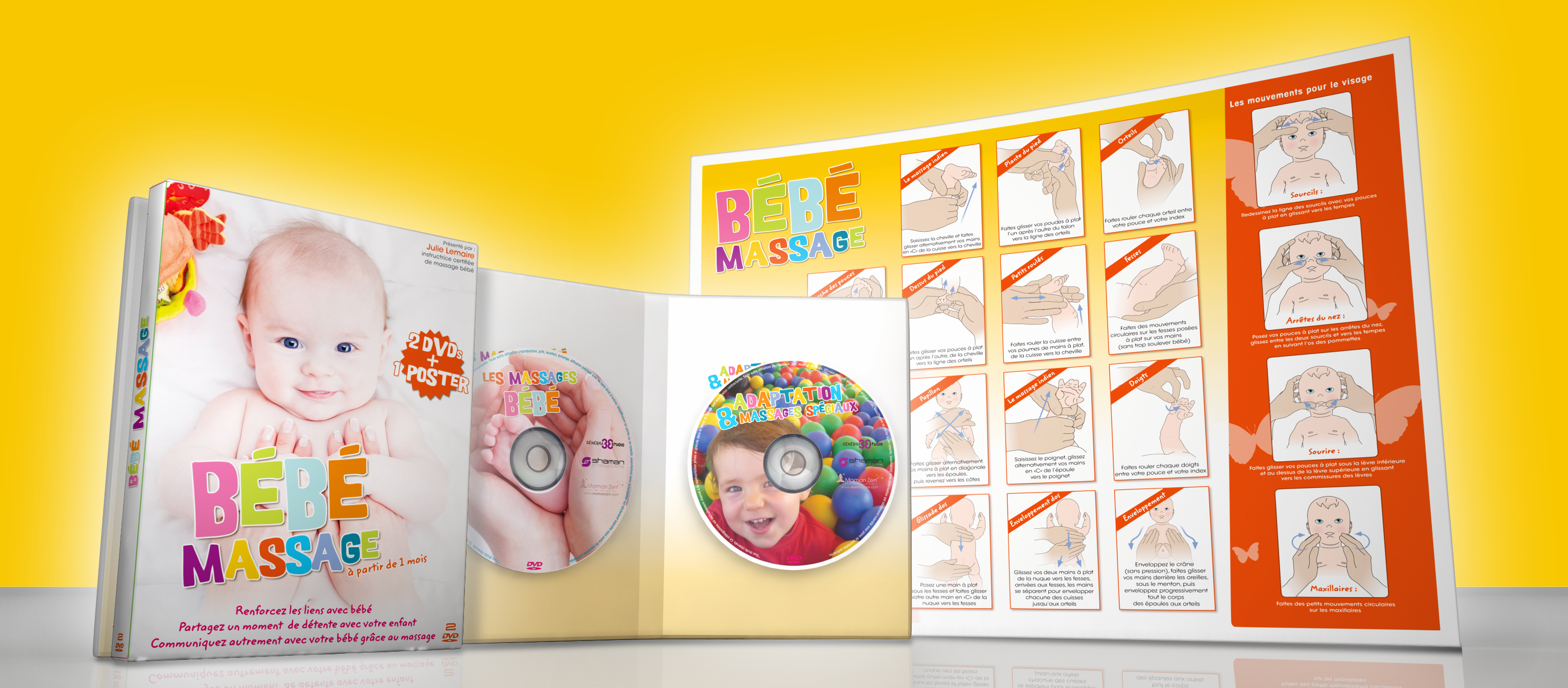 BEBE MASSAGE - 2 DVD + POSTER