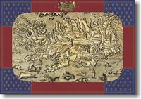 ISLANDE EN 1585 A PLAT EN POCHETTE RIGIDE
