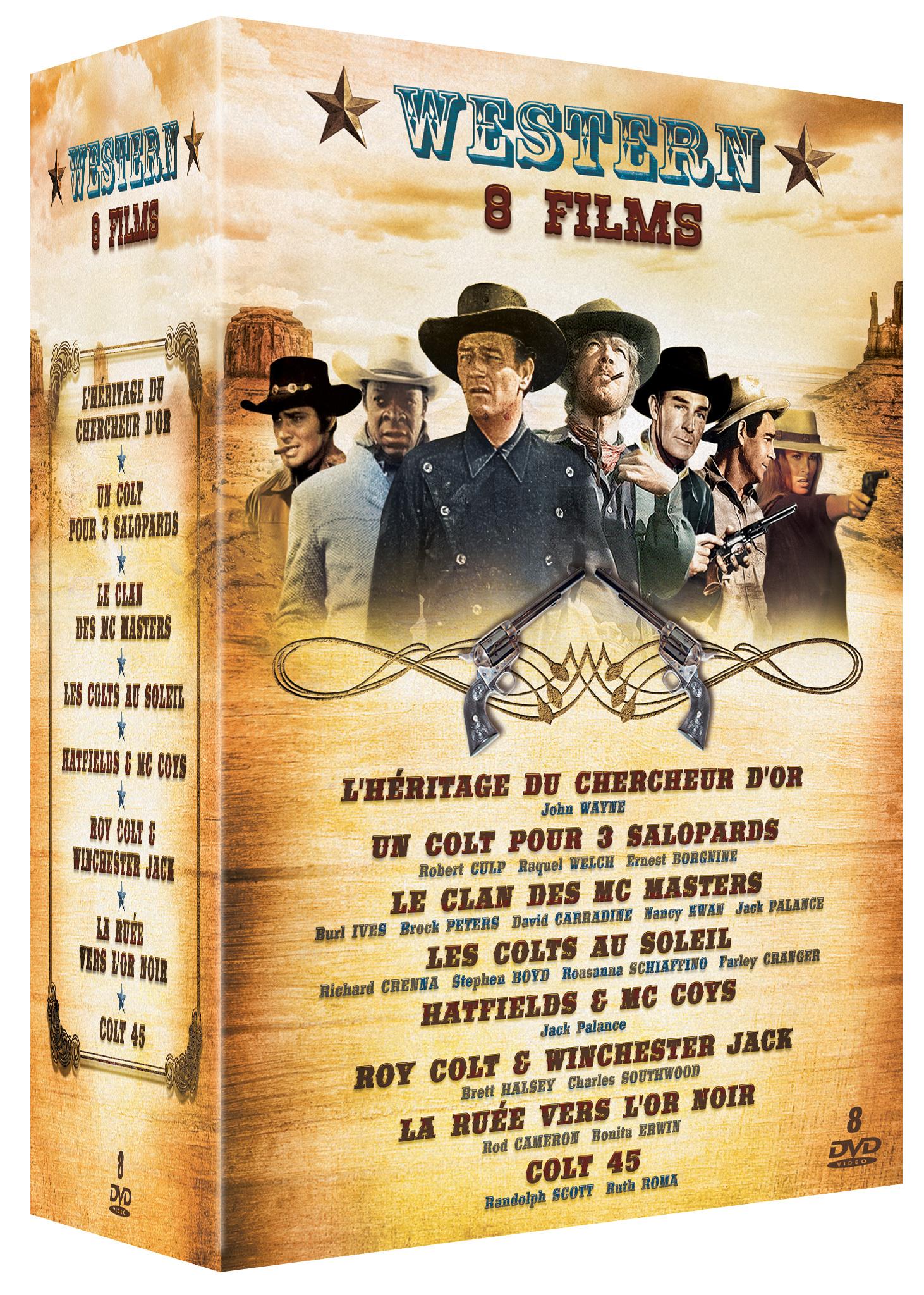 WESTERN - COFFRET 8 DVD (HERITAGE DU CHERCHEUR D'OR - COLT POUR 3 SALOPARDS - CLAN DES MC MASTERS )