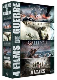 COFFRET 4 FILMS DE GUERRE (1945 END OF WAR - STARFIGHTER - GALLIPOLI - ALLIES)