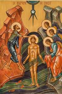 IC143 - CARTE POSTALE - ICONES - LE BAPTEME DU CHRIST