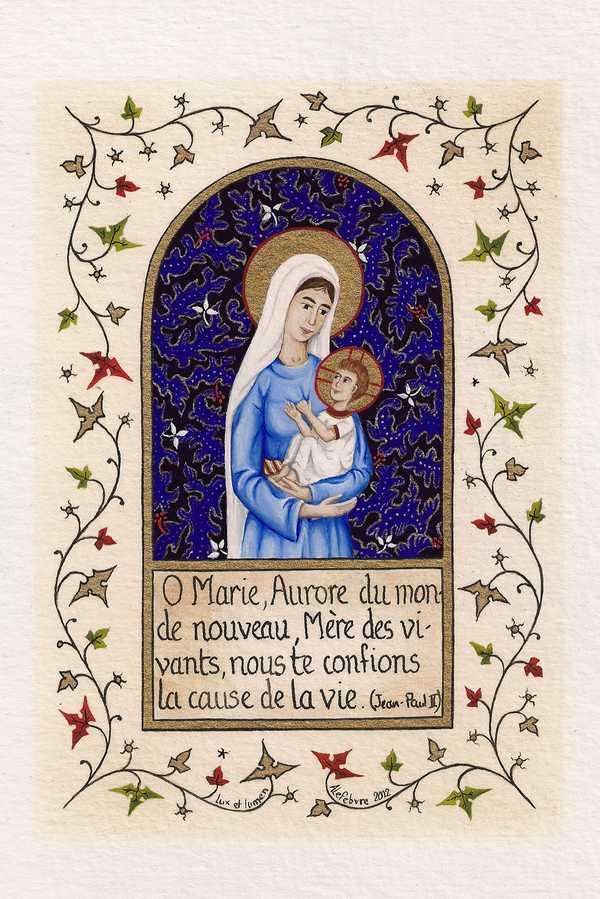 EL198 - CARTE POSTALE - ENLUMINURES - O MARIE, AURORE DU MONDE NOUVEAU, ...