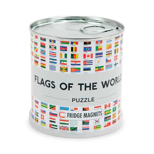 FLAGS OF THE WORLD PUZZLE MAGNETS 100 PIECES