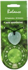 PENDENTIF COEUR ZODIAC - JADE - LOT DE 5
