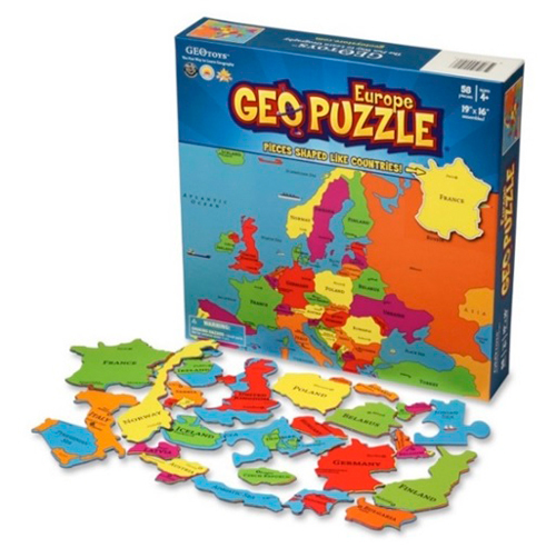 GEOPUZZLE EUROPE 58 PIECES (FR) 483X406.