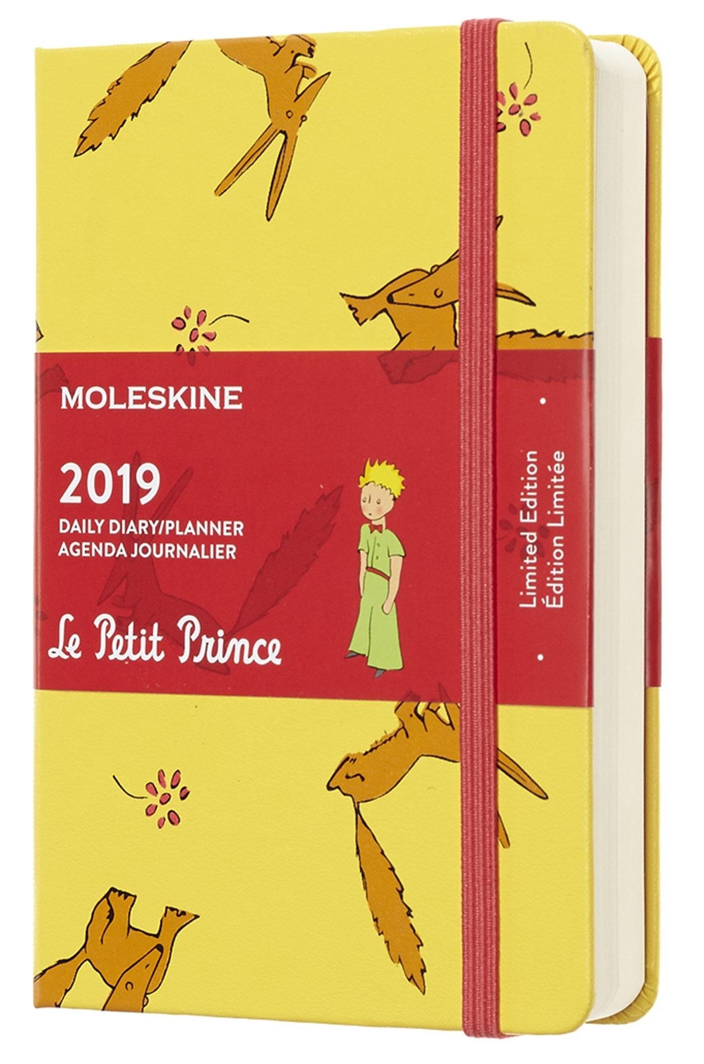 AGENDA 2019 PETIT PRINCE JOURNALIER POCHE JAUNE