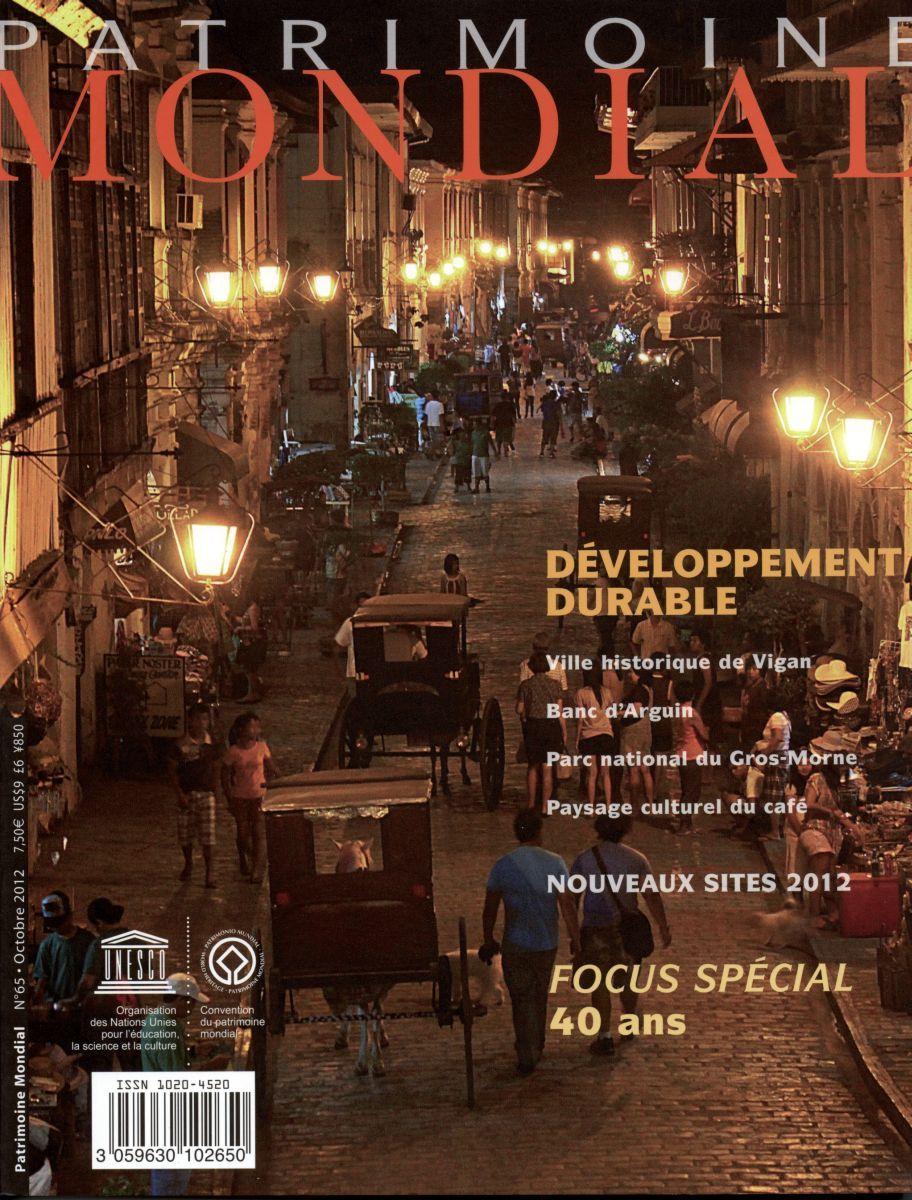 DEVELOPPEMENT DURABLE - NOUVEAUX SITES 2012 - PM N 65