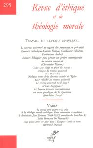 REVUE D'ETHIQUE THEOLOGIQUE 295