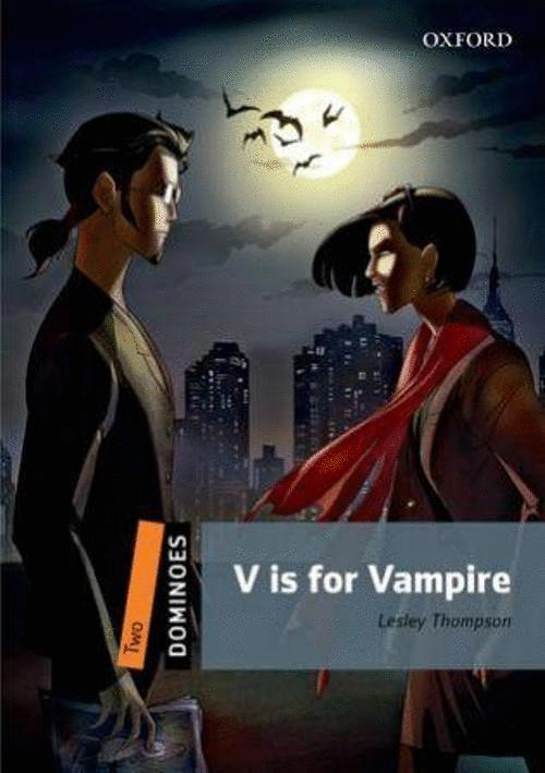V IS FOR VAMPIRE 2 DOMINOES