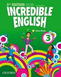 INCREDIBLE ENGLISH, NEW EDITION 3: COURSEBOOK