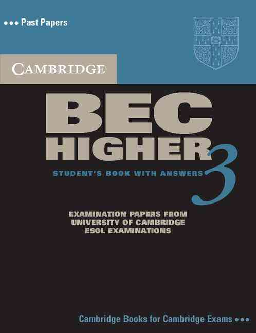 CAMBRIDGE BEC HIGHER 3 SELF-STUDY PACK : STUDENT BOOK WITH ANSWERS
