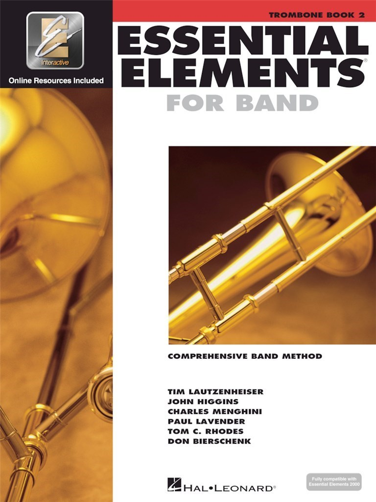 ESSENTIAL ELEMENTS FOR BAND - BOOK 2 WITH EEI TROMBONE +ENREGISTREMENTS ONLINE