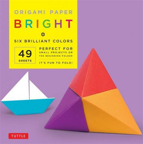 "ORIGAMI PAPER BRIGHT 6"" 49 SHEETS /ANGLAIS"